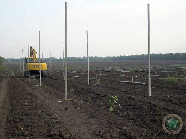 Installation of poles