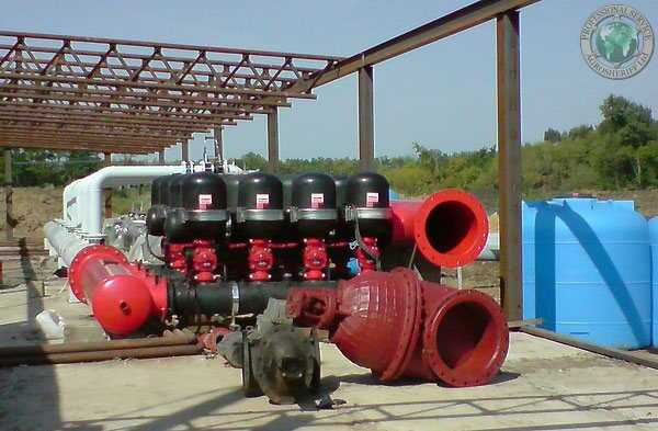 construction of pumping station
