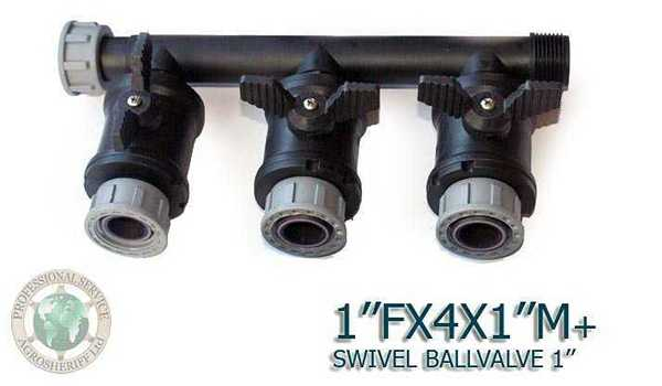 With 3 ball valves